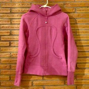 Lululemon Scuba zip up purple hoodie Small